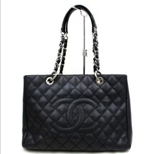 Chanel Shopping Tote Bag Quilted Caviar Leather